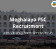 Meghalaya PSC Recruitment 2018-19 Jobs Vacancy Form @mpsc.nic.in