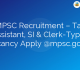 MPSC Recruitment – Tax Assistant, SI & Clerk-Typist Vacancy Apply @mpsc.gov.in